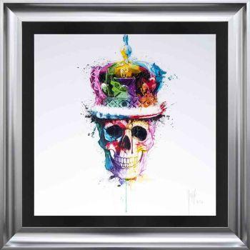 """Patrice Murciano Framed """"Crown Skull"""" print 90cm x 90cm"""