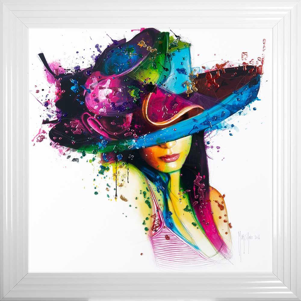 Partrice Murciano Hat Girl Glitter  85cm x 85cm