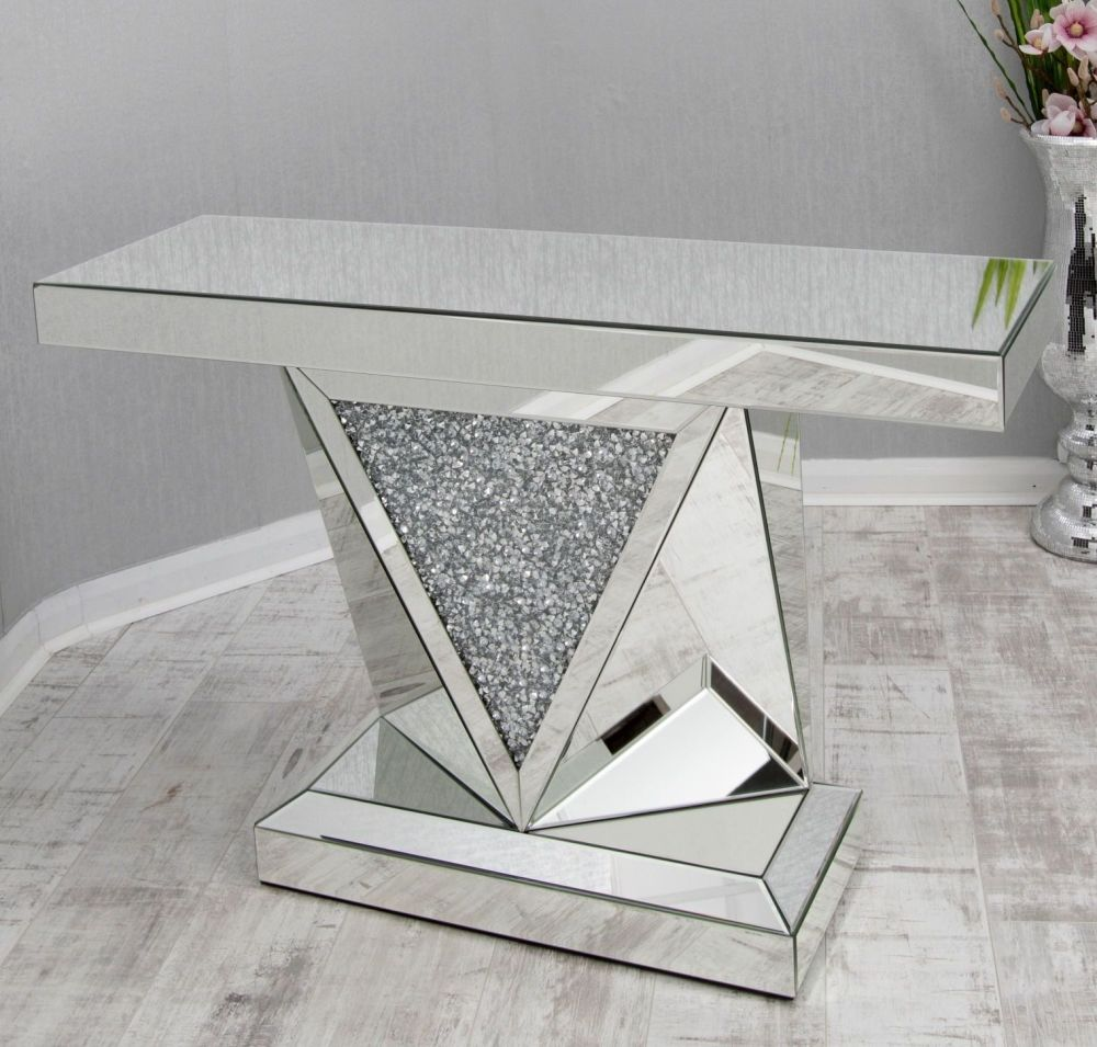 *Diamond Crush Sparkle Crystal Vida Console Table Item in stock