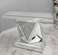 *Diamond Crush Sparkle Crystal Vida Console Table Item