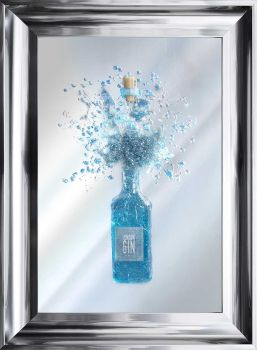 Light Up Blue Gin Wall Art