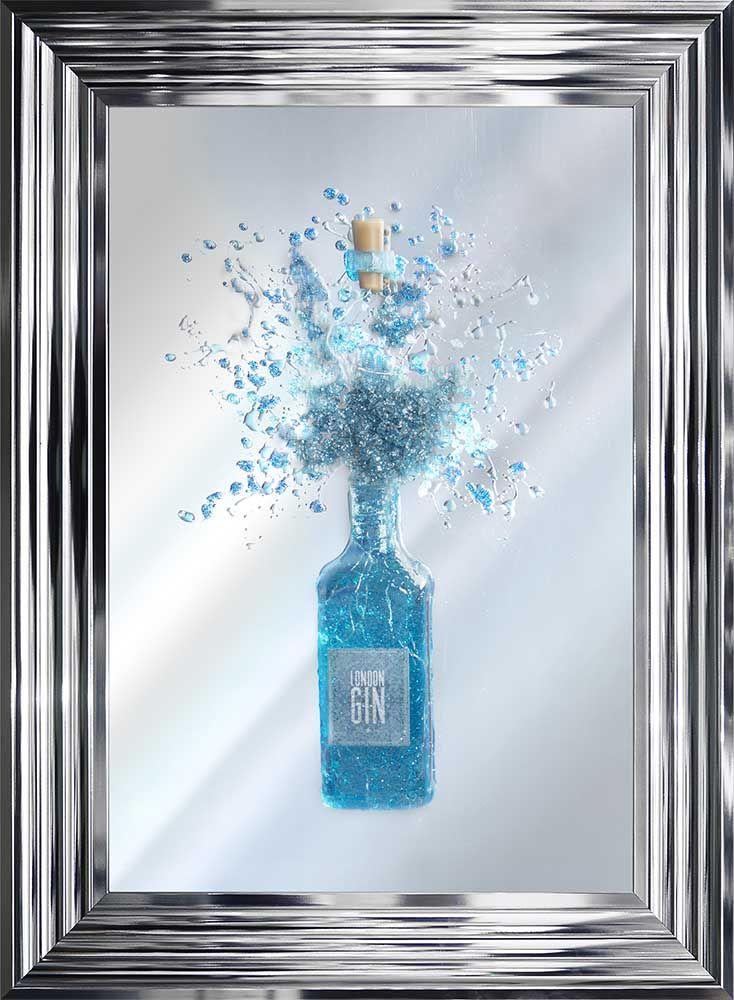 Light Up Blue Gin Wall Art
