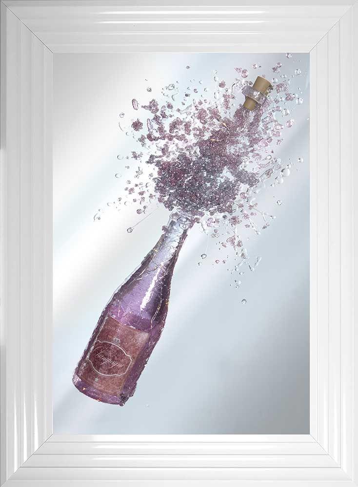 Light Up Pink Champagne Wall Art
