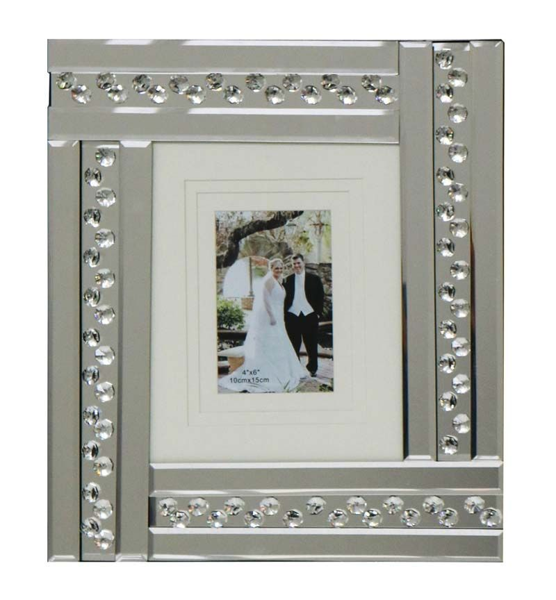 Glitz Crystal Mirrored Photo Frame  40cm x 35cm