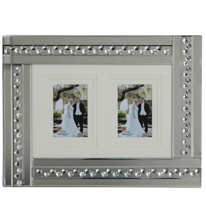 Glitz Crystal Mirrored Photo Frame  50cm x 35cm