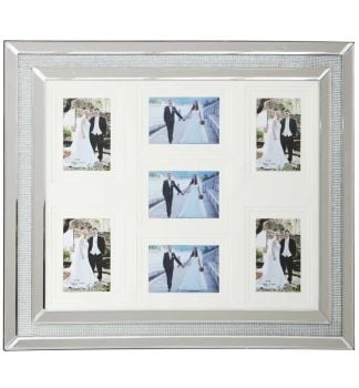 Glamour Sparkle Mirrored collage 7 Photo Frame 70cm x 60cm