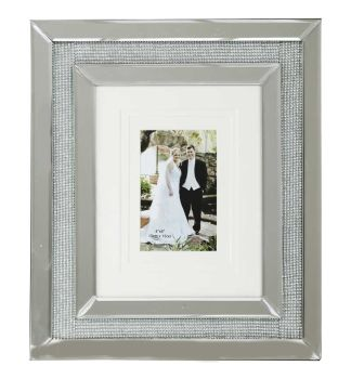 Glamour Sparkle Mirrored Photo Frame  40cm x 35cm