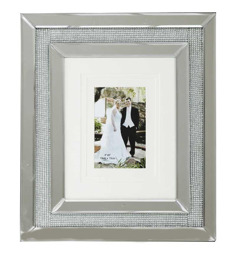 Glamour Sparkle Mirrored Photo Frame  40cm x 35cm