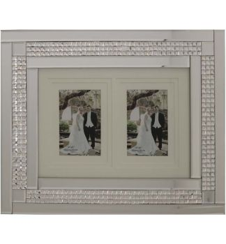 Chic Mosaic Sparkle Mirrored collage 2 Photo Frame  50cm x 40cm