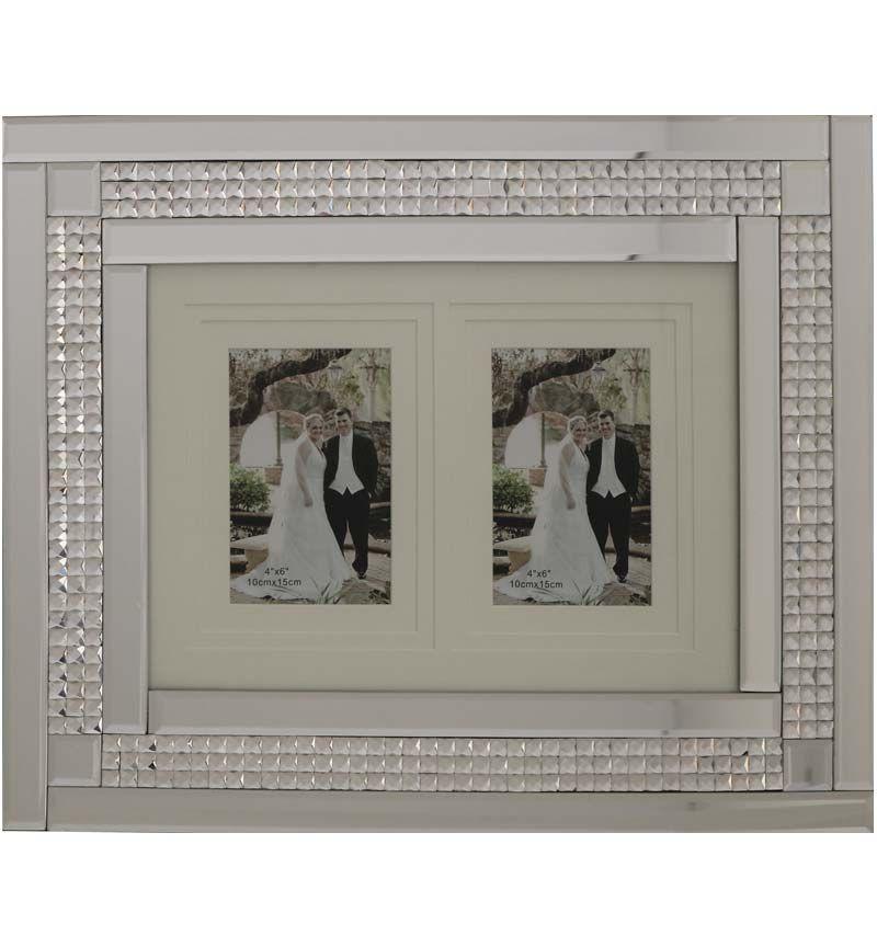 Chic Sparkle Mirrored collage 2 Photo Frame  50cm x 40cm