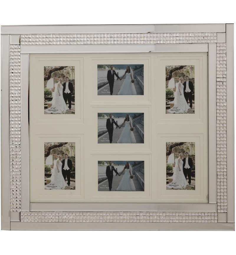 Chic Sparkle Mirrored collage 7 Photo Frame  70cm x 60cm