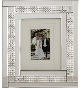 Chic Mosaic Sparkle Mirrored Photo Frame 40cm x 35cm