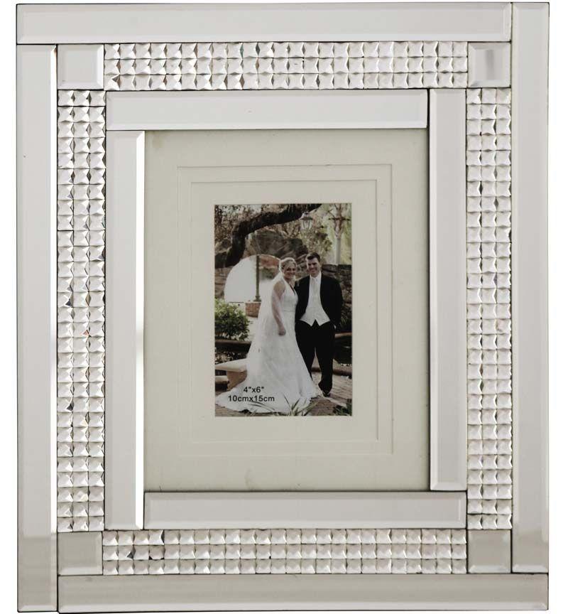 Chic Sparkle Mirrored Photo Frame 40cm x 35cm