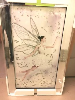 "Mirror framed ""Flying Fairy"" Wall Art  in stock for a quick delivery"