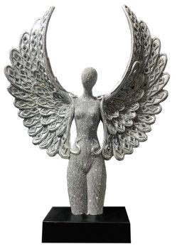 *Angel Wings Lady in Sparkle Silver