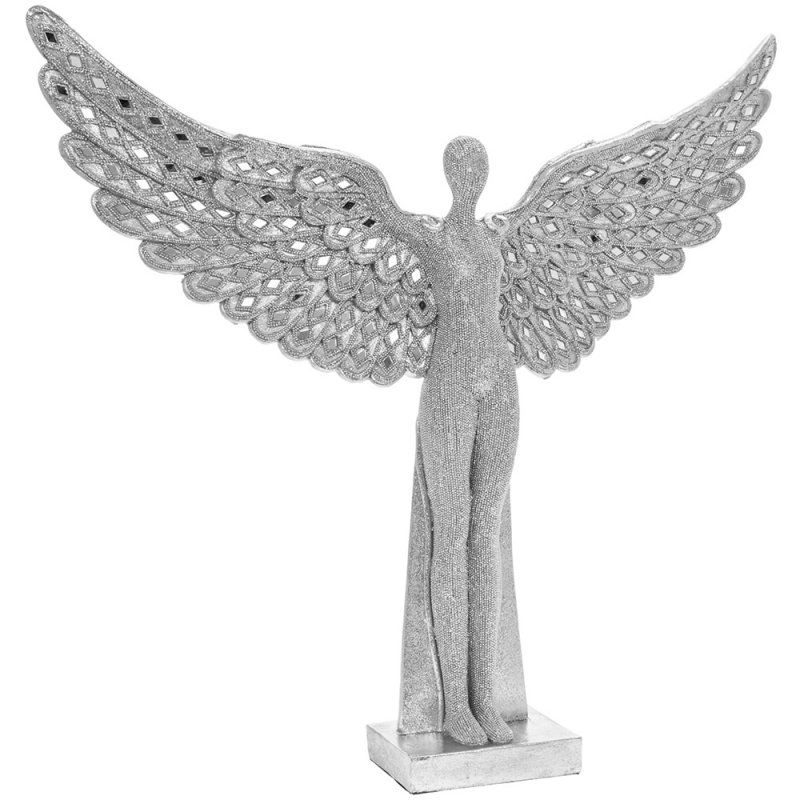 Standing Sparkle Angel Wings Lady 52cm x 48cm x 9cm