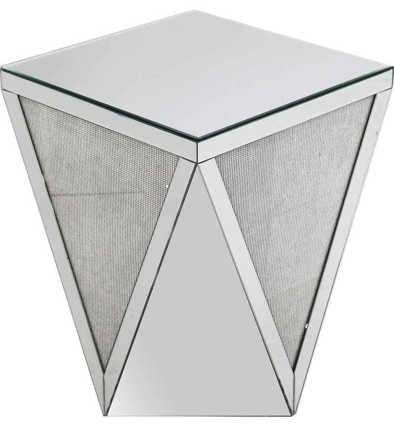 Glamour Sparkle Mirrored Lamp Table
