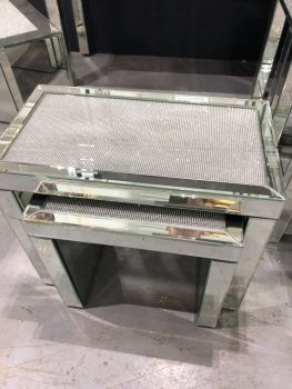 Glamour Sparkle Mirrored Nest of 2 Tables