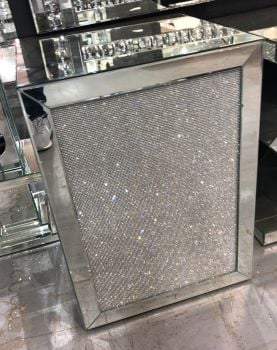 Glamour Sparkle Mirrored Cube Lamp Table