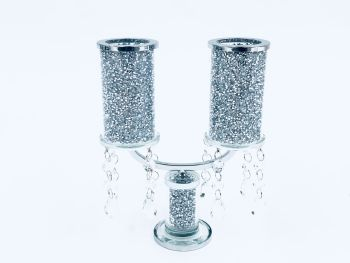 * Diamond Crush Sparkle Candelabra 2 item in stock