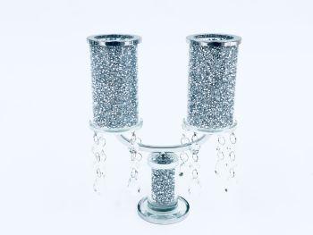 * Diamond Crush Sparkle Candelabra 2 item in stock