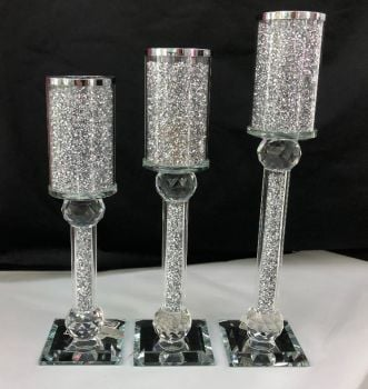 * Diamond Crush Sparkle Candle Holder Large