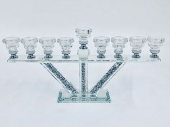 * Diamond Crush Sparkle Tea Light  Holder 9 stem  item in stock
