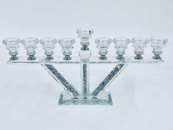 * Diamond Crush Sparkle Tea Light  Holder 9 stem  item in stock