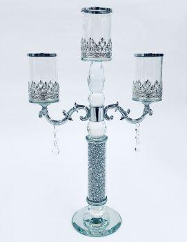 * Diamond Crush Sparkle Candelabra 3 Clear item in stock