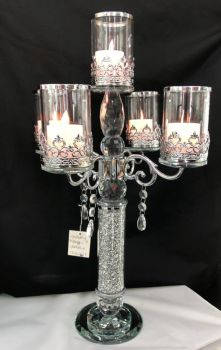* Diamond Crush Sparkle Candelabra 5 Clear medium