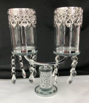 * Diamond Crush Sparkle Candelabra 2 clear