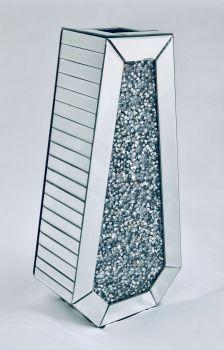 * New Diamond Crush Sparkle Crystal Mirrored shaped  Vase instock