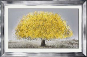 """framed art print """"Glitter Sparkle Blossom Tree Lemon"""" in a choice of frames"""