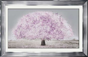 """framed art print """"Glitter Sparkle Blossom Tree Blush Pink"""" in a choice of frames"""