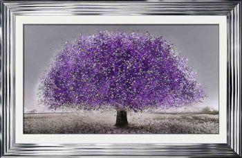 "framed art print ""Glitter Sparkle Blossom Tree Ultra Violet"" in a choice of frames"