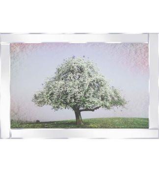"Mirror framed art print "" Blossom Tree in Green"" 100cm x 60cm"