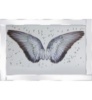"Mirror framed art print "" Sparkle Angels Wings"" 100cm x 60cm"