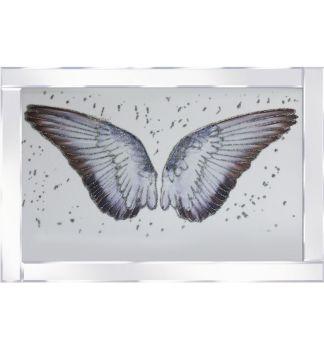 "Mirror framed art print "" Sparkle Angels Wings"" 100cm x 60cm"