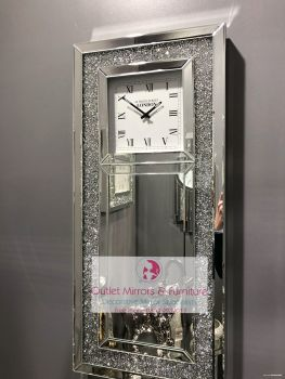 Wall Clocks Mantle Clocks Glitter Clocks Sparkle Clocks Crush Glass Clocks Floating Crystal Clocks We Love Them All At Outletmirrors Com Especially With Free Uk Nationwide Delivery