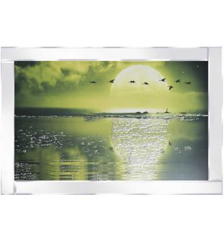 "Mirror framed ""Sparkle Flying Gesse Sunset"" Wall Art"