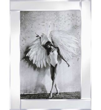 "Mirror framed ""Sparkle Dancing Lady"" Wall Art"