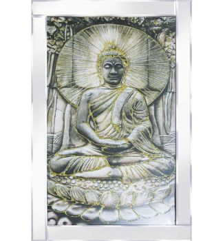 "Mirror framed ""Sitting Budhha"" Wall Art"