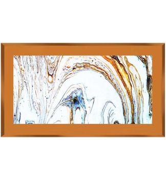 """"""" Abstract Swirls on Bronze Mirror 100cm x 60cm"""