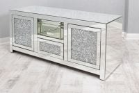 * Diamond Crush Sparkle Mirrored TV Entertainment Unit 130cm in stock for immediate delivery