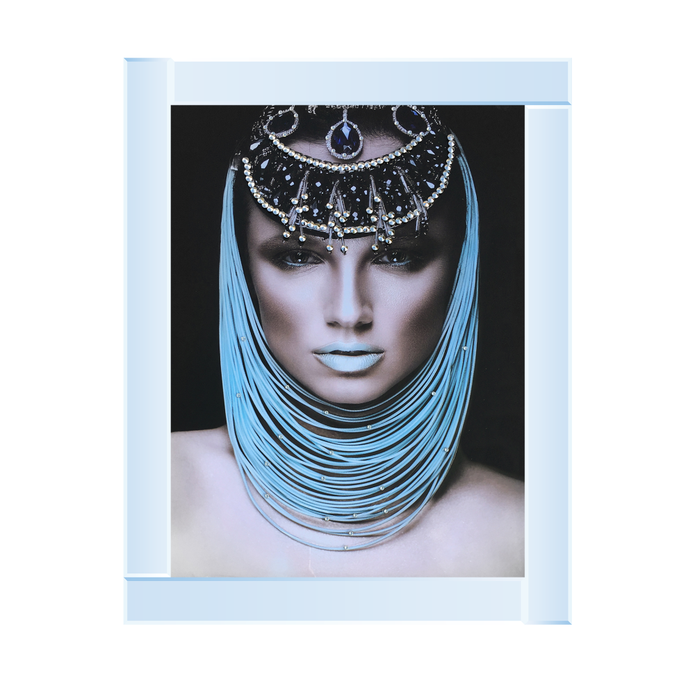 Egyptian lady 1 Media Wall Art in a mirrored Frame