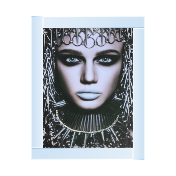 Egyptian lady 2 Media Wall Art in a mirrored Frame