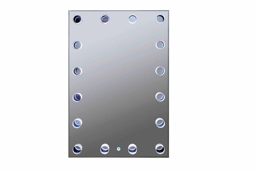 Silver Wall Hung Hollywood Mirror 90cm x 60cm