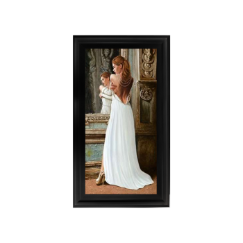 Glamour Lady style 2 wall Art in a choice of frame colours 114cm x 64cm