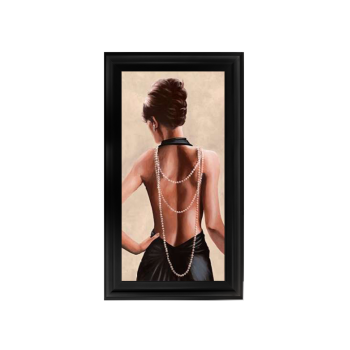 Glamour Lady Pearl 2 wall Art in a choice of frame colours 114cm x 64cm