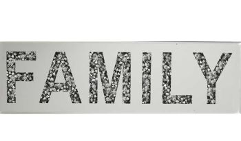 """ New Diamond Crush Plaque ""Family"" in stock"